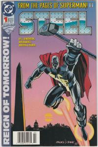 5 Steel DC Comic Books # 1 (1) 2 (2) 3 Superman Louise Simonson Bogdanove TW43