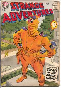 Strange Adventures #97 1958-DC-Space Giant-sci-fi-G/VG