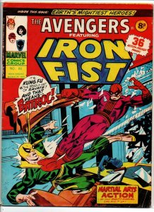 Avengers #80 - Iron Fist - Marvel UK - Magazine Size - 8p - 1975 - FN