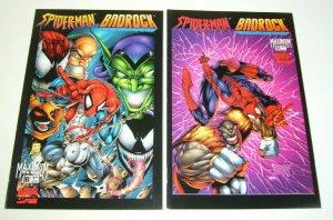 Spider-Man/Badrock #1-2 FN/VF complete series - venom/carnage/green goblin set
