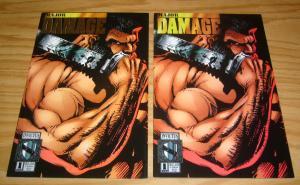 Major Damage #1 VF/NM one-shot + gold logo variant - invictus studios comics