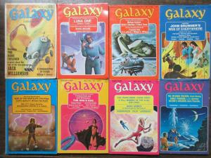 Galaxy Science Fiction Magazine Lot of 11Diff form 1971-78 Trippy Library