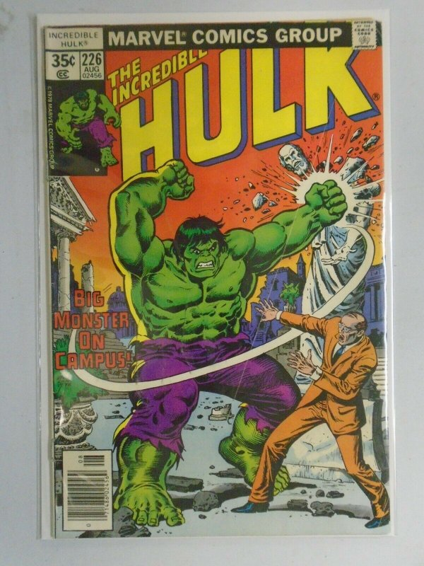 Incredible Hulk #226 News Stand edition 3.0 GD VG (1978 1st Series)