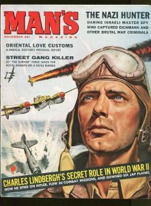 MAN'S MAGAZINE NOVEMBER 1960-NAZI HUNTER-ORIENTAL LOVE-CHEESECAKE PICTURES-VG+