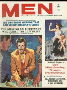 MEN MAGAZINE FEB 1962-GAMBLING COVER-MISBEHAVING NYMPH VG