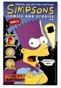 Simpsons Comics and Stories #1 1993-Bartman-Includes poster-comic book