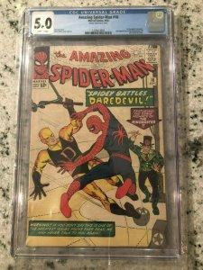 Amazing Spider-Man # 16 VG/FN CGC 5.0 GRADED Marvel COMIC Book Daredevil TJ1