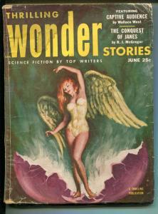 THRILLING WONDER STORIES 6/1953-SCI-FI PULP-WALTER POPP-MURRAY LEINSTER-fr