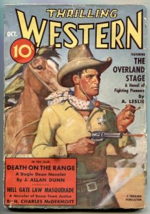 Thrilling Western Pulp October 1938- Death on the Range- Dogie Dean