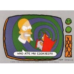 1990 Topps The Simpsons - WHO ATE MY COOKIES? #57