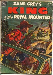 King of The Royal Mounted #9 1952-Dell-Zane Grey-RCMP-G/VG