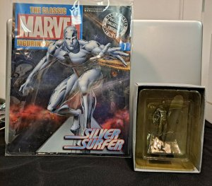 Eaglemoss Issue #7 with Rare Silver Surfer Figurine HAND PAINTED LEAD CAST