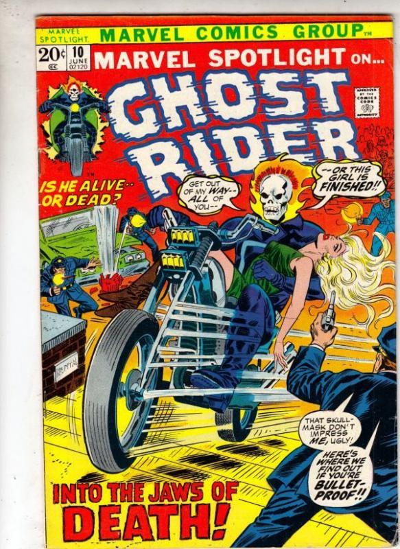 Marvel Spotlight on Ghost Rider 10 strict VF 8.0 High-Grade    Witch Woman