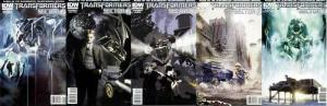 TRANSFORMERS SECTOR 7 (2010 IDW) 1A-5A  COMPLETE!