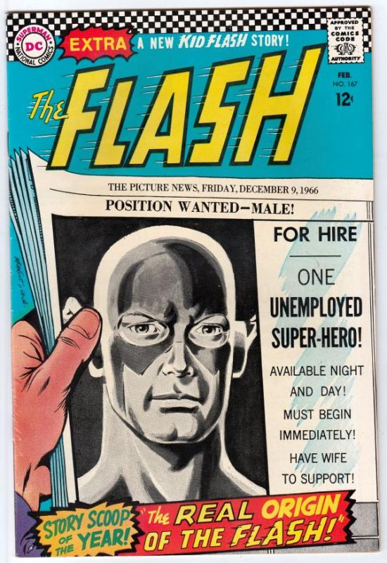 Flash, The #167 (Feb-67) NM/NM- High-Grade Flash