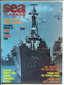 Sea Classics 9/1970-Challenge-Sir Francis Drake-Jap Cruiserst-VF