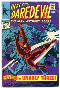 DAREDEVIL #39 1968-1st EXTERMINATOR-MARVEL COMICS-GENE COLAN comic VG