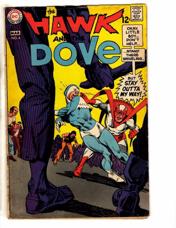 Hawk & Dove # 4 VG Marvel Comic Book Silver Age Series JG1