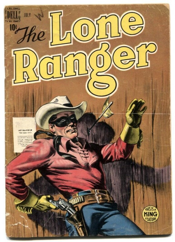 Lone Ranger #13 1949- Dell Golden Age Western comic VG