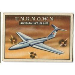 1952 Topps Wings UNKNOWN RUSSIAN JET PLANE #135 GD/VG