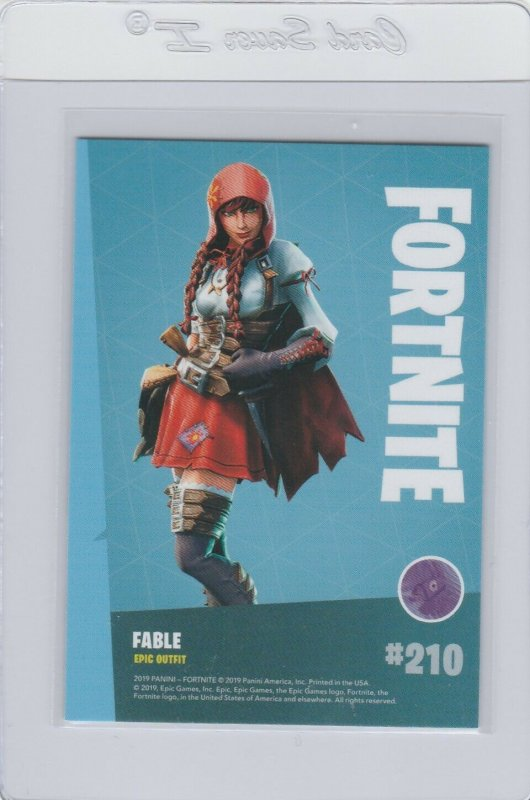Fortnite Fable 210 Epic Outfit Panini 2019 trading card series 1