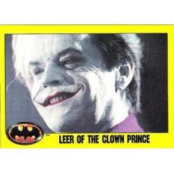 1989 Batman The Movie Series 2 Topps LEER OF THE CLOWN PRINCE #143