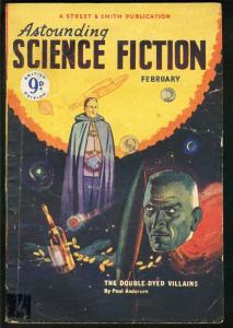 ASTOUNDING SCIENCE FICTION 1950 FEB-BRITISH ED-DOUBLE DYED VILLIANS VG