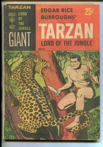 TARZAN LORD OF THE JUNGLE #1 1965-GOLD KEY-GIANT-JESSE MARSH-PAPER COVER-fn
