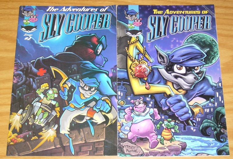 the Adventures of Sly Cooper #1-2 complete series based on sony video game