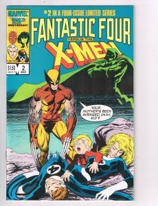 Fantastic Four vs the X-Men #2 Marvel Comic BookWolverine Franklin Richards HH2