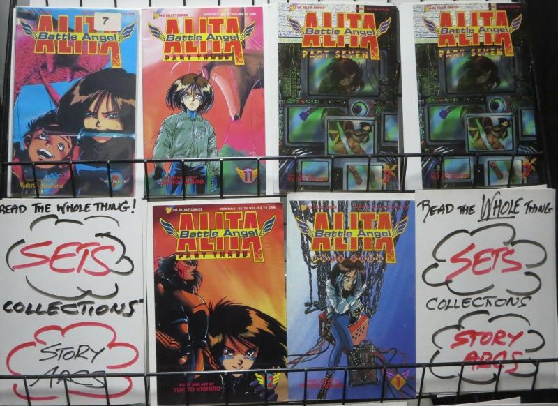 BATTLE ANGEL ALITA RANDO-PACK! 6 books! movie-prep investment! Viz Comics