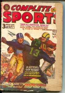 Complete Sports 2/1951-football game cover-Norman Saunders-boxing-baseball-FR
