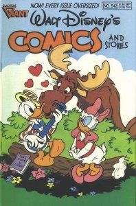 Walt Disney's Comics and Stories #542, VF+ (Stock photo)