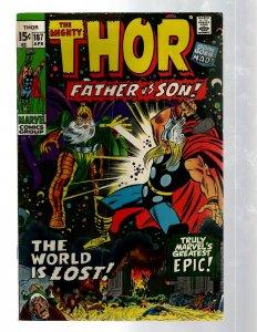 Mighty Thor # 187 VF Marvel Comic Book Loki Odin Asgard Sif Avengers Hulk RB8
