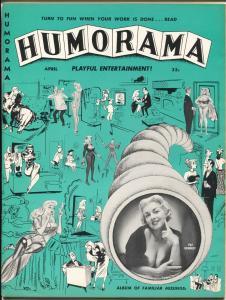 Humorama #1 4/1957-Atlas-1st issue-cheesecake-Betty Page-Bill Ward-DeCarlo-VF