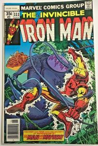 INVINCIBLE IRON MAN#111 FN/VF 1978 MARVEL BRONZE AGE COMICS