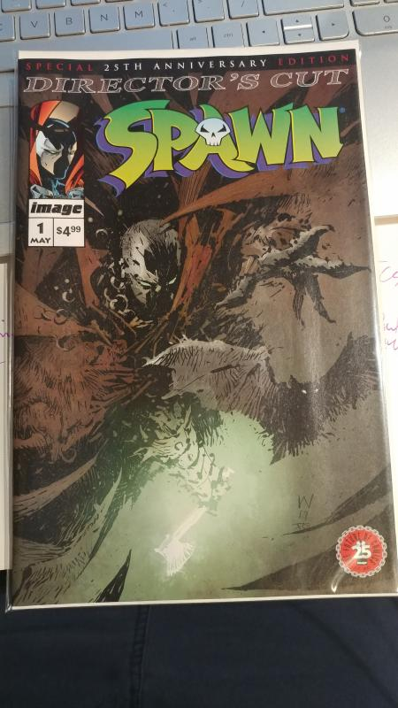 SPAWN #1 DIRECTOR'S CUT SPECIAL 25TH ANNIVERSARY EDITION (2017) WOOD VARIANT!