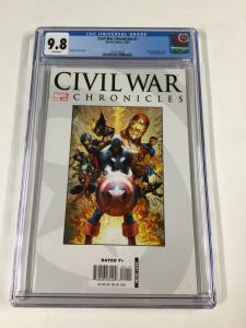 Civil War Chronicles 1 Cgc 9.8 White Pages Michael Turner Cover Marvel