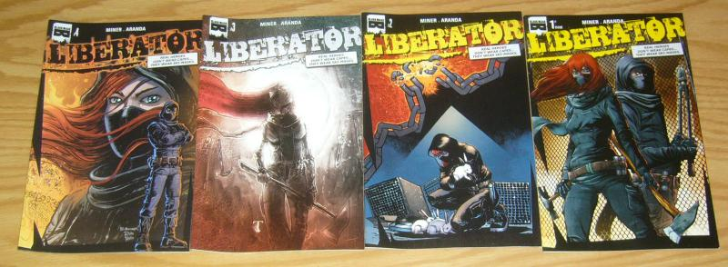 Liberator #1-4 VF/NM complete series - black mask comics 2 3 young terrorists