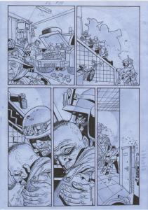 SIMON BISLEY / Andy Brown Original art, KINGDOM of FLIES #2, Signed, Zombies