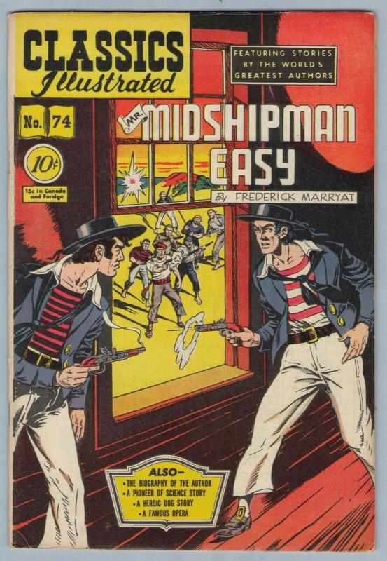 Classics Illustrated 74 (original) Aug 1950 FI+ (6.5)