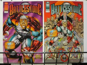 BATTLESTONE (1994 IM) 1(BLUE),1(ORANGE) - both covers