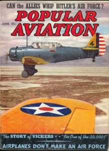 Popular Aviation 6/1939-photo cover-Hitler's Air Force-G/VG