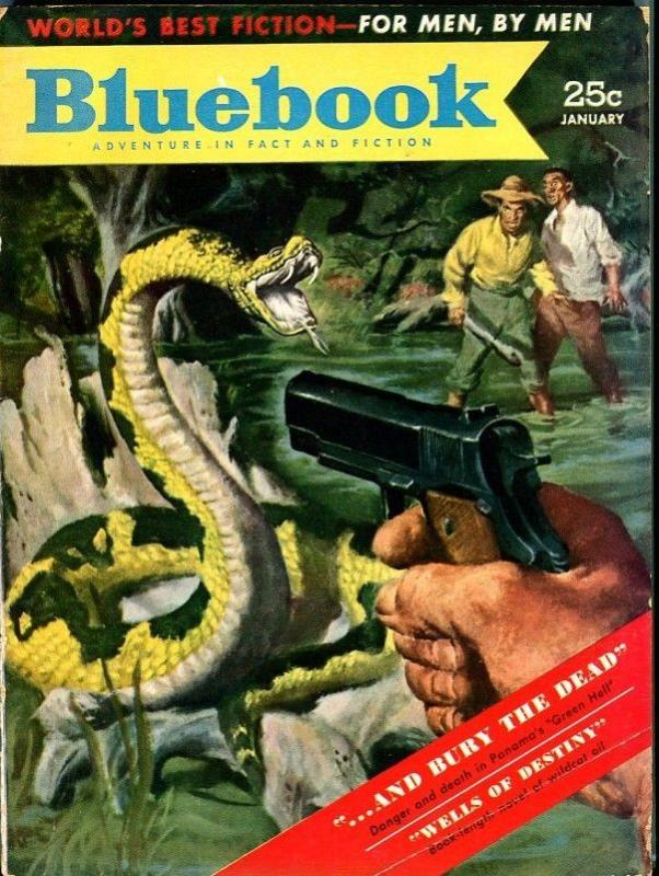 BLUE BOOK PULP-JANUARY 1953-FN/VF-MAYERS COVER-RANDALL-PEACOCK-EDRICH FN/VF