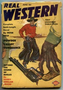 Real Western Pulp June 1944- Powder Valley Veneance VG/F