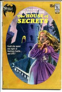HOUSE OF SECRETS #89 1971-DC HORROR- G