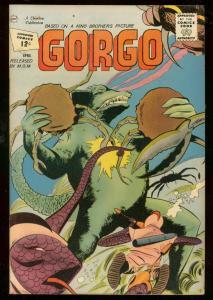GORGO #6 '62-CHARLTON-WILD CRAB CLAW-MOVIE HORROR COMIC VF