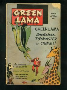 GREEN LAMA #8 1946-BOY CHAMPIONS-SEA ROVER-FINAL ISSUE-good plus G+