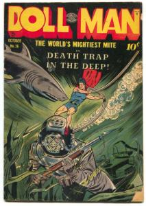 Doll Man #36 1951- Shark cover- Torchy- Golden Age comic VG