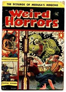 WEIRD HORRORS #5 comic book-Pre-code-1952-ST JOHN-RARE-SNAKE LIKE MONSTER